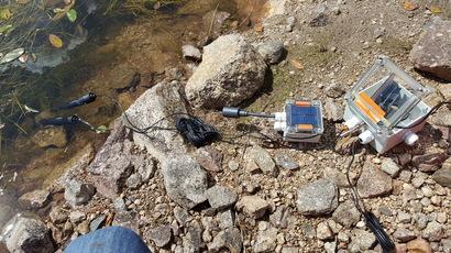 Funktionstest Weihermessung im Wasser