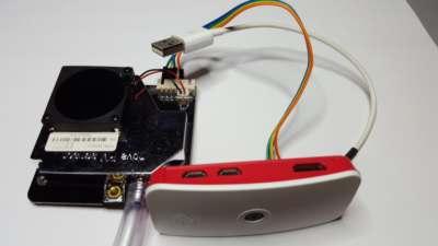 Sensor am Zero-W mit Kamera