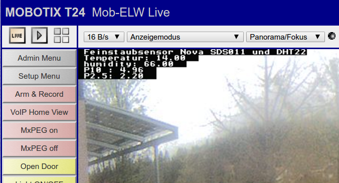 Mobotix Texteinblendung