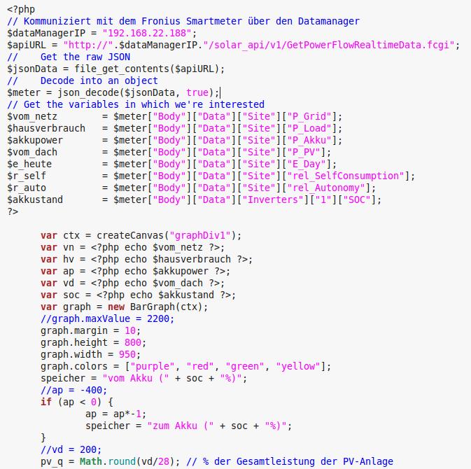 PHP-Skript fragt API ab
